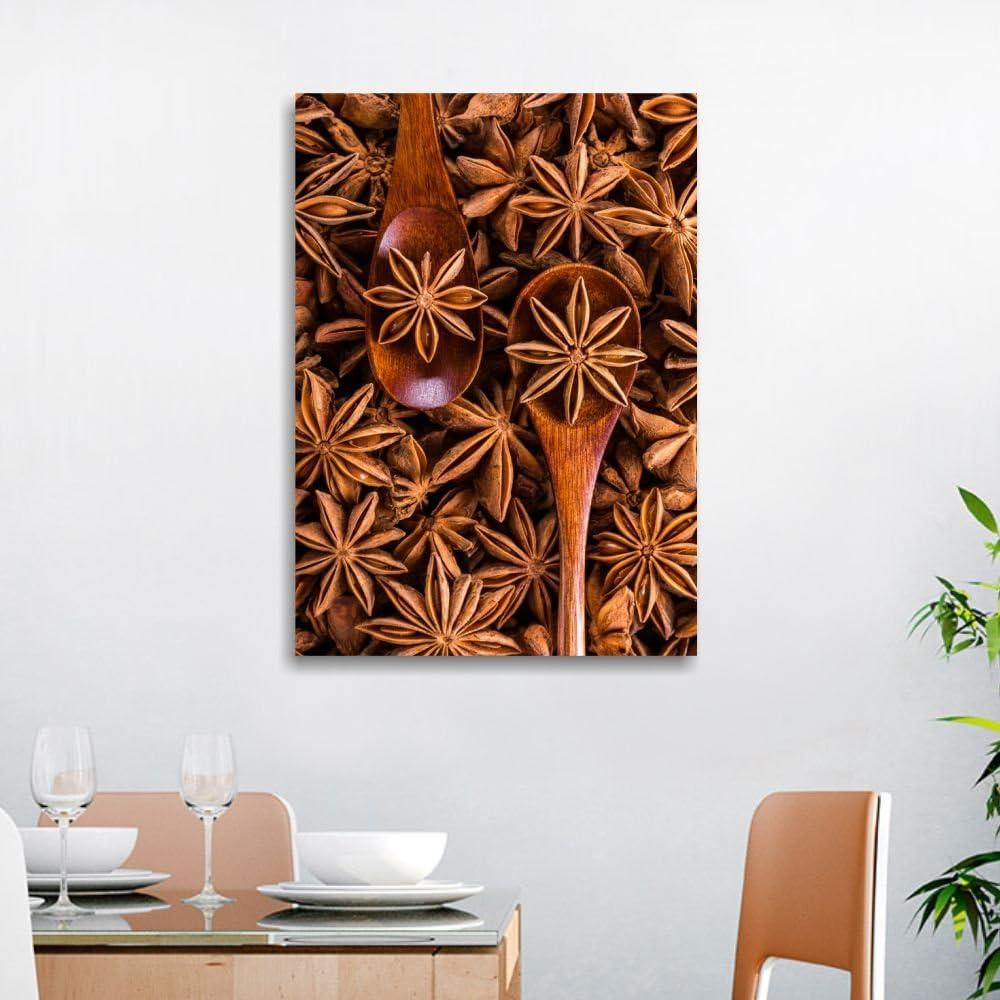 Aromi 1 Quadri L C Italia Quadro Spezie Per Cucina Moderna 50 X 70 Stampa Su Tela Canvas Da Parete Decorazioni Ristorante Dipinti Casa E Cucina