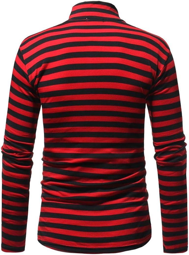 iLXHD Men\'s Autumn Winter Striped Turtleneck Long Sleeve T-Shirt Top Blouse 71U%2B5RSgM9L