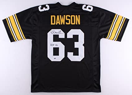 Dermontti Dawson #63 Signed Pittsburgh Steelers Jersey Inscribed ...