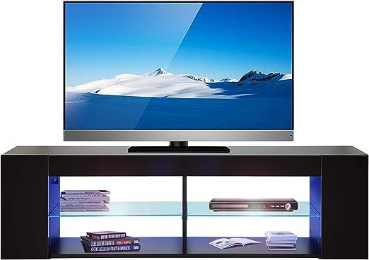 Mueble para televisor o televisión, Multifuncional, para televisión, Estable, con LED Azul, 134 x 30 x 39,5 cm (Largo x Ancho x Alto), Color Negro: Amazon.es: Juguetes y juegos