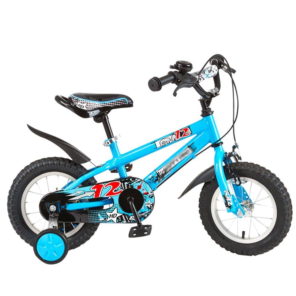 HAIZHEN マウンテンバイク 子供用自転車 トレーニングホイール付きの少年の自転車と少女の自転車 12インチ、14インチ、16インチ 子供用ギフト 新生児 B07C6V4CGD 14 inches|青 青 14 inches