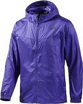 Adidas Windbreaker - Chaqueta de Running para Hombre, Color Morado