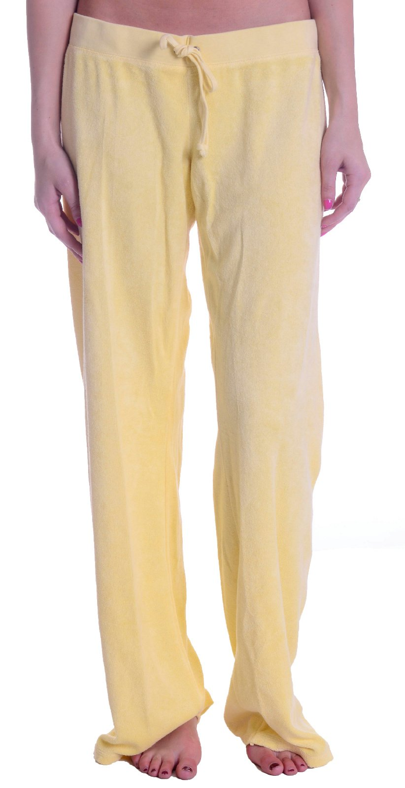 Juicy Couture Women's Love Note Classic Terry Pants In Sun Bunny, Large