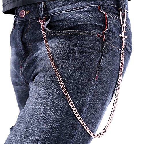 U7 Trousers Plated Crucifix Design