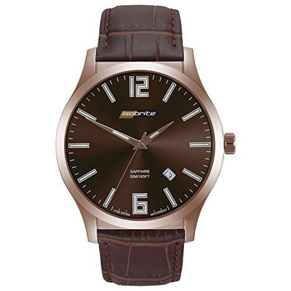 [アーマーライト]Armourlite 腕時計 Isobrite Grand Slimline Brown Dial Watch with Brown Leather Band ISO905 [並行輸入品] B01B9W8C1G