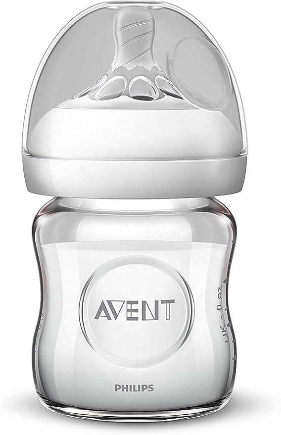 Philips Avent SCF051/17 - Biberón natural de cristal, 120 ml: Amazon.es: Bebé