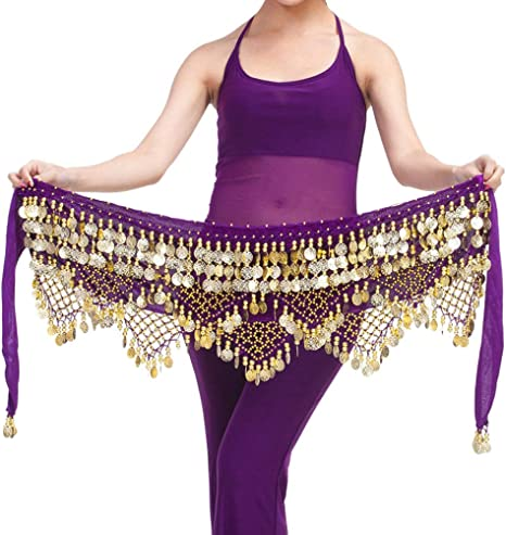 LIOOBO Zumba Falda de la Cadera de Bellydance de Las Mujeres con ...