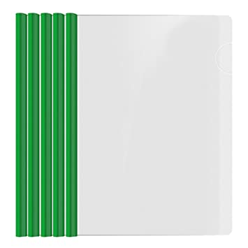 Shxstore Resume Portfolio Folder, Clear Presentation Folders With Green  Report Covers Sliding Bar For A4  Resume Presentation Folder