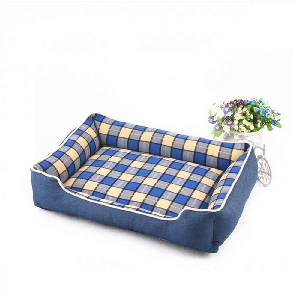 Wuwenw Divano Letto Per Cani Denim blu Plaid Design Staccabile E Lavabile Pet Bed Per Cani Di Piccola Taglia Cat House Bed Mat Sofa Supplies 50X38X15Cm