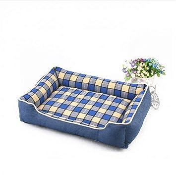 Wuwenw Cama De Perro Sofá De Mezclilla Azul Diseño Plaid Desmontable Y Lavable Cama De Mascota para Perros Medianos Pequeños Cama De Gato Casa Sofá ...
