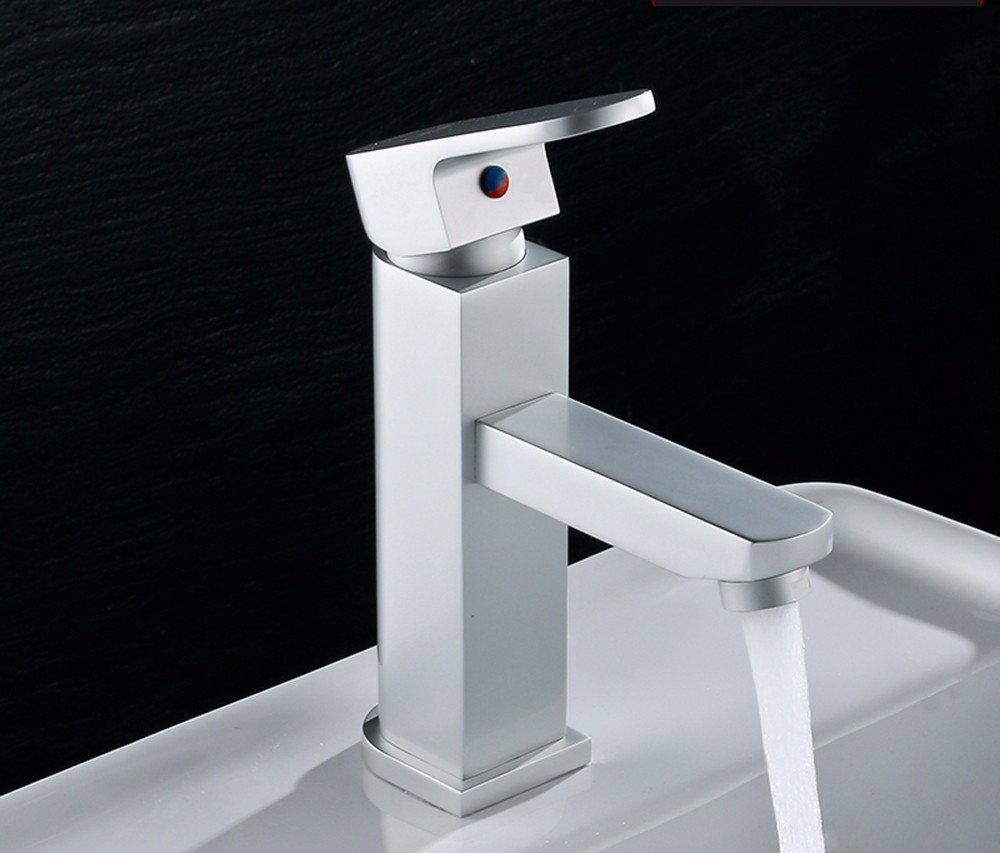 AWXJX Aluminum basin hot and cold Single Single Hole water tap