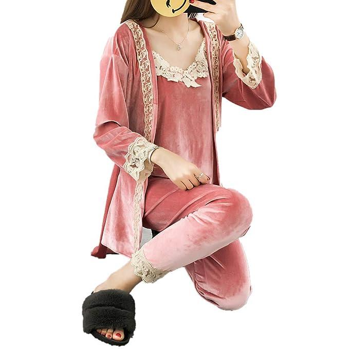 Amazon.com: SZYB juego de pijamas de terciopelo dorado para ...