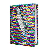 Office Products : Magic Sequin! Reversible Sequin Rainbow to Silver Journal