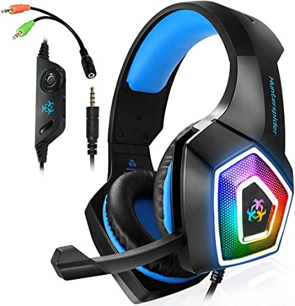 DP-iot 3.5mm Jack Wired Earphone Gaming Headphones Single Side Game Headset Single Side Speaker with Mic for PS4 PC