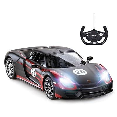 RASTAR Porsche RC Car, 1:14 Porsche 918 Spyder RC Car | Porsche Toy Car for Kids - Black: Toys & Games