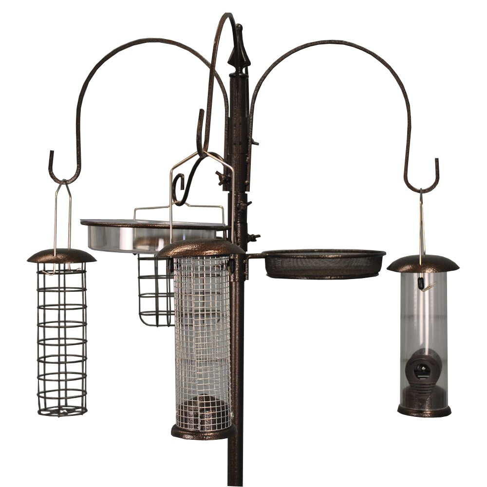 Selections metal completo mangiatoia per uccelli con 4mangiatoie