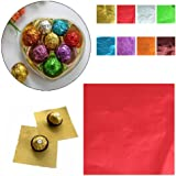 Amit Marketing Silver Foil Plain Paper For Chocolate & Sweet Wrapping Multicolour Pack Of 100Pic