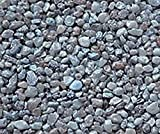 Safe & Non-Toxic {Small Size, 0.12'' Inch} 10 Pound Bag of Gravel & Pebbles Decor Made of Genuine Quartz for Freshwater Aquarium w/ Simple Earthy River Inspired Trendy Natural Style [Blue & Gray]