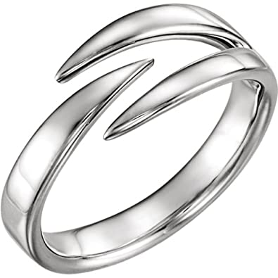 62e598d3564 Amazon.com: Negative Space Ring, Rhodium-Plated 14k White Gold ...