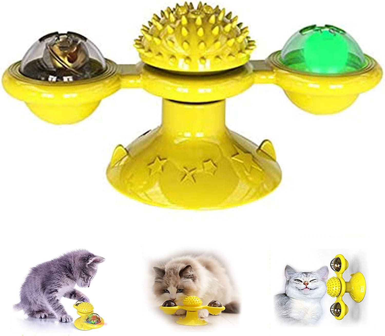 Aidiyapet Juguetes para Gatos,Juguete para Gatos Molino Giratorio Juguete para Gatos Rascarse Cosquillas Cepillo para el Cabello Accesorios para Mascotas Juego Loco: Amazon.es: Productos para mascotas