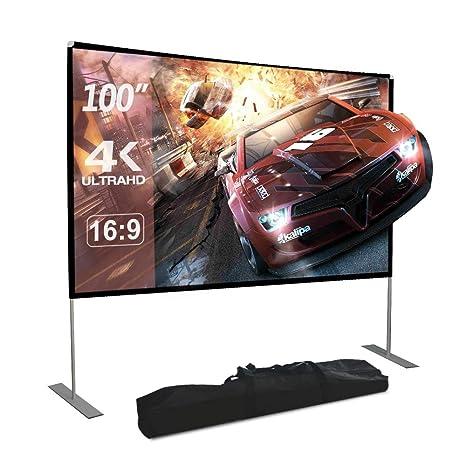 Amazon.com: Dessports - Proyector de pantalla con soporte ...