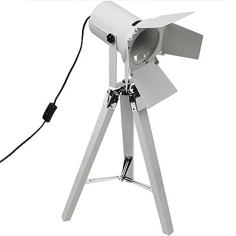 Grundig trípode lámpara de pie con foco E27 H65cm lámpara de ...