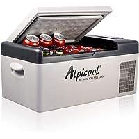 Alpicool C15 Mini Nevera de Coche portátil Eléctrica 12/24V CC Refrigerador de Coche para Hogar Aire Libre Camping…
