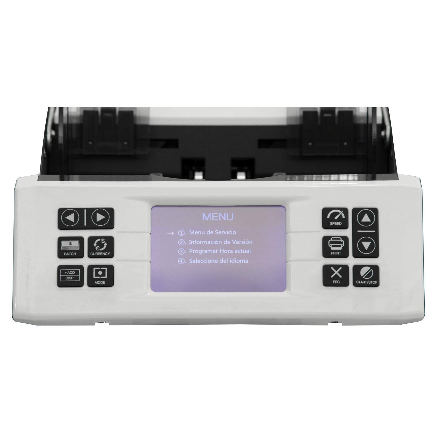 Demotio MA-180S Bank Grade Mixed Denomination and Multi-Currency (USD, EUR, CNY and GBP) Bill Counter with Full Detection and Receipt Printing Function (with Optional Printer) by Demotio