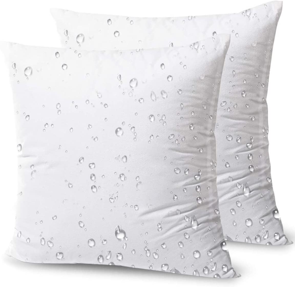 Amazon Com Phantoscope Premium Outdoor Pillow Inserts Pack Of 2 Square Form Water Resistant Decorative Throw Pillows Couch Sham Cushion Stuffer 18 X 18 Inches Kitchen Dining