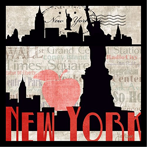 New York by Jill Meyer New , Big Apple Statue of Liberty wall art