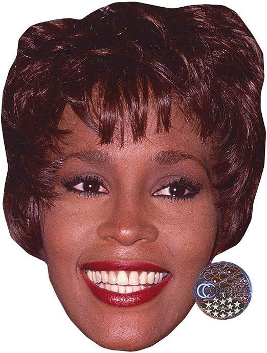 Smile Card Face and Fancy Dress Mask Celebrity Mask Whitney Houston