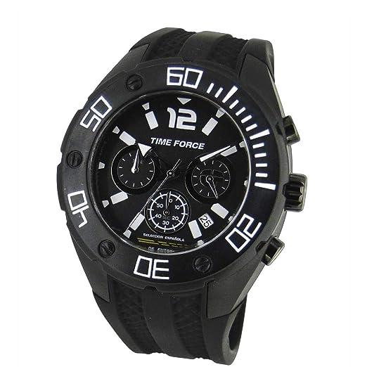 TIME FORCE Reloj Cronógrafo para Hombre de Cuarzo con Correa en Caucho TF-4145M11: Amazon.es: Relojes
