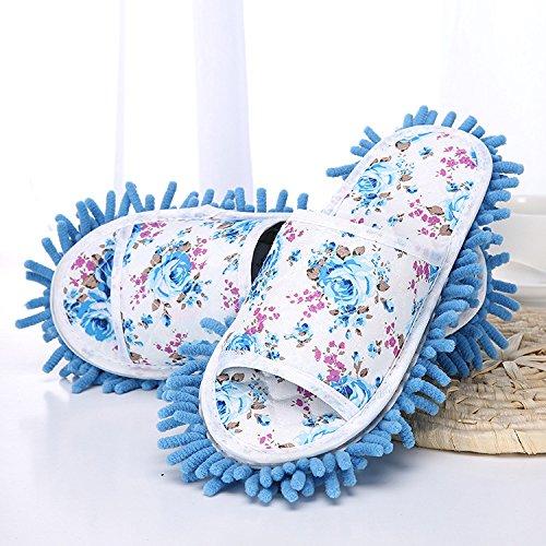 Et Chaud Red Chenille JIA HONG Rose Lazy Ménage Chenille Chaussures Amovible Pantoufles Lavable Blue Pantoufles OqYAOSxw