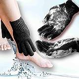 MIG4U Exfoliating Shower Gloves for Bath, Premium Nylon Body Wash Bathing Gloves for Men Women Spa, Massage and Skin Scrub, D