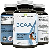 Best BCAA Supplement - Amazing Bodybuilding + Pre Workout Results - Pure Branched Chain Amino Acids - L-Leucine + Food Grade Formula for Men and Women - USA Made by Nature Bound