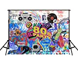 Kate 7ft(W) x5ft(H) 80th Photography Backdrop No Wrinkle Hip Hop 80's Party Decoration Photo Booth Props
