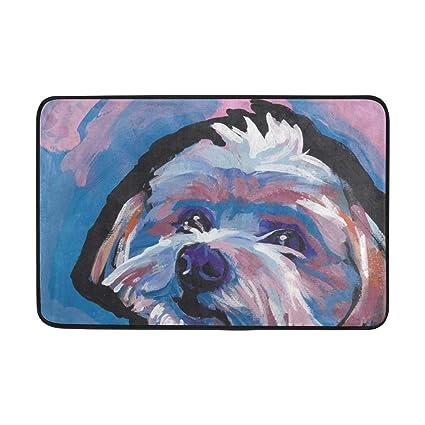 Amazoncom Doormat Morkie Maltese Yorkie Dog Bath Rugs Non Slip