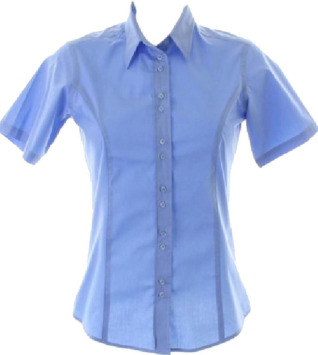 Kustom Kit Women's business blouse short sleeve