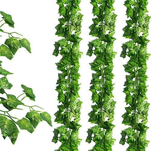 JPSOR 24 Pack (79 Inches Each) Fake Ivy Artificial Ivy Leaves Greenery Garlands Hanging for Wedding Party Garden Wall Decoration (Faux To Flowers Best Place Buy)