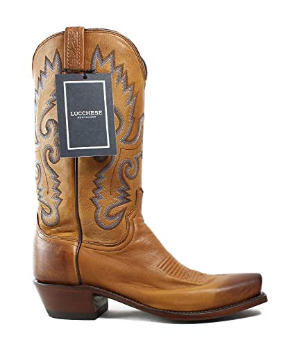 d5442151cde Amazon.com   Lucchese New Mens Kd1505.73 Tan Burnished Cowboy ...