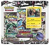 Pokemon TCG: Sun & Moon Celestial Storm - Tapu Koko Blister Pack | 3 Random Booster Packs of 10 Cards Each | Includes Rare Authentic Legendary Alolan Guardian Holofoil Card