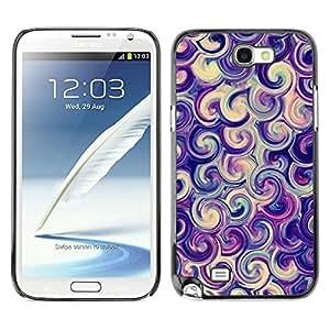 Vórtice Remolino púrpura caramelo Surf Remolino- Metal de aluminio y de plástico duro Caja del teléfono - Negro - Samsung Note 2 N7100