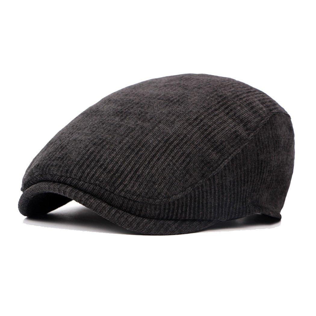 Anshili Men's Adjustable Winter Warm Ivy Newsboy Cap (Black) ShiAn