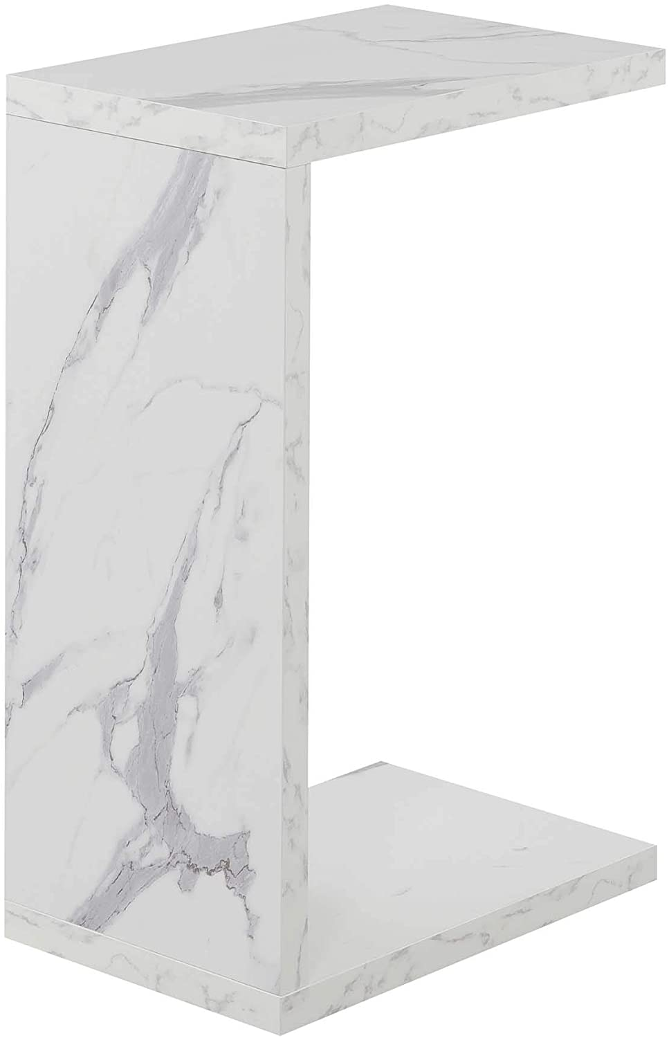 Convenience Concepts Northfield Admiral C End Table, Faux White Marble