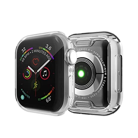 IvyLife Funda para Apple Watch 44mm Carcasa para iWatch Serie 4 Funda Suave para iWatch, Carcasa Protección de Pantalla de Apple Watch, TPU Cubierta ...