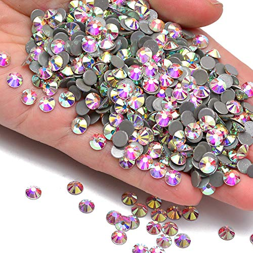 144pcs Hotfix Quality Crystal Rhinestones Flatback Nail Art Pick Color (Crystal AB, 40ss 144pcs)