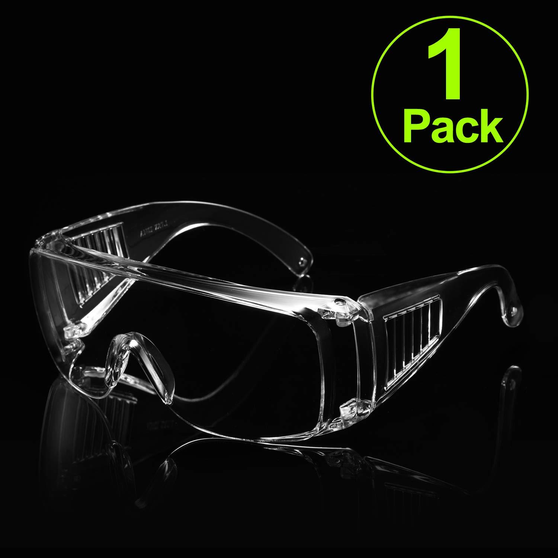 Carfia Gafas de seguridad Lentes antiniebla transparentes Antiproyección Lentes a prueba de polvo Lentes personales de protección ocular