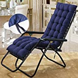 hotbesteu Sun Lounger Cushions Replacement Classic Garden Patio Chair Pad Thick Recliner Relaxer Padded Cushion (navy blue)