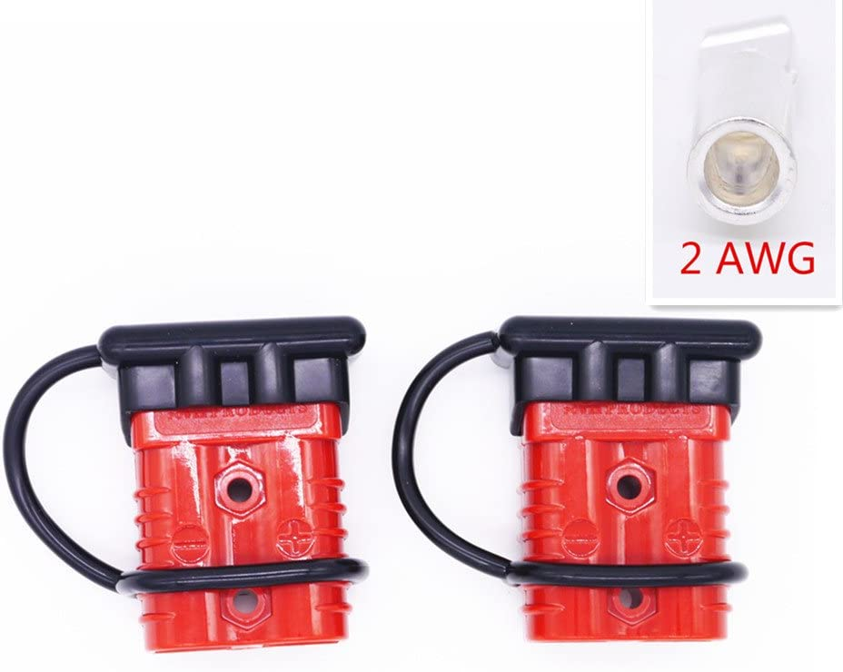 Battery Cable Winch Quick Connect//Disconnect Plug Kit 175A-600V Plug with Soft Rubber Cover, Fit for 1//0 AWG wire