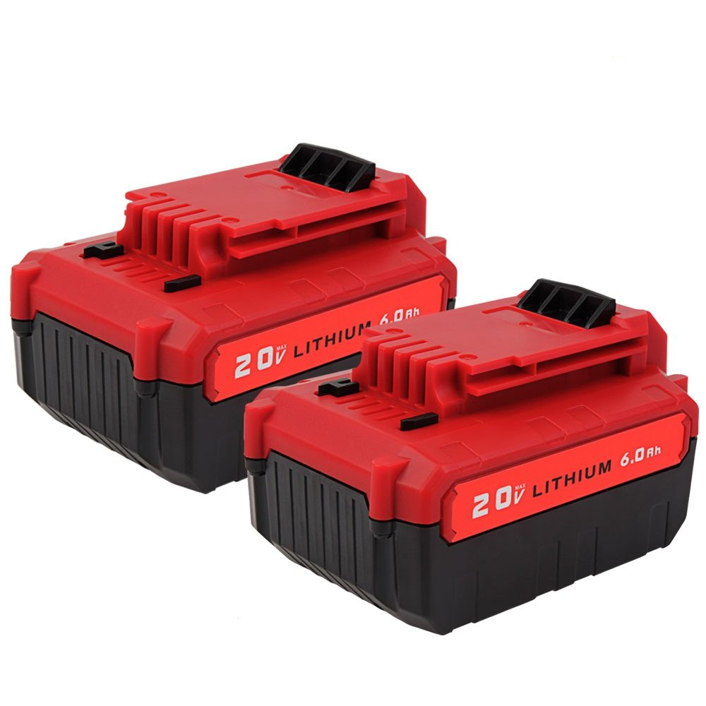 PCC685L 6.0Ah Battery for Porter Cable, VANON 20V Lithium-ion battery for Porter Cable PCC680L PCC682L PCC685LP, 2 Pack Li-ion Cordless Tool Battery for Porter Cable